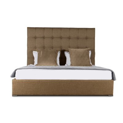 Handley Upholstered Platform Bed Color: Brown, Size: Mid Height Queen