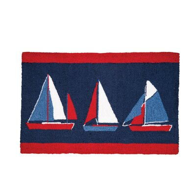 Crume Sail Boats Door Mat