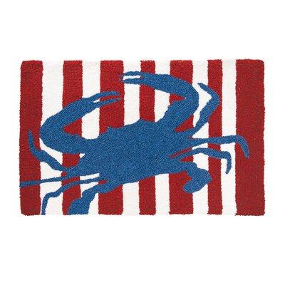 Crume Striped Crab Door Mat
