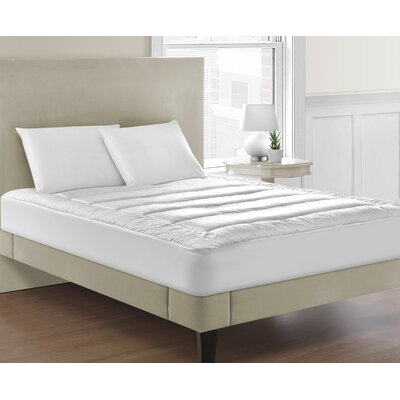 Allis Overfilled Luxuriously Soft Channel-Stitched 100% Polyester Mattress Pad Bed Size: King