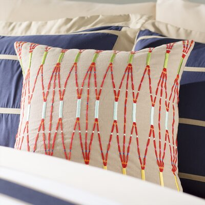 Adelhard Cotton Throw Pillow Color: Brown/Orange
