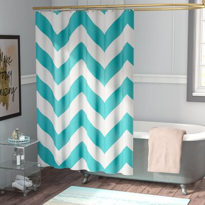 Electra Shower Curtain Color: Teal