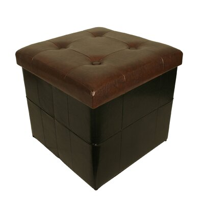 Whitten Collapsible Seat with Storage Cube Finish: Black/Brown