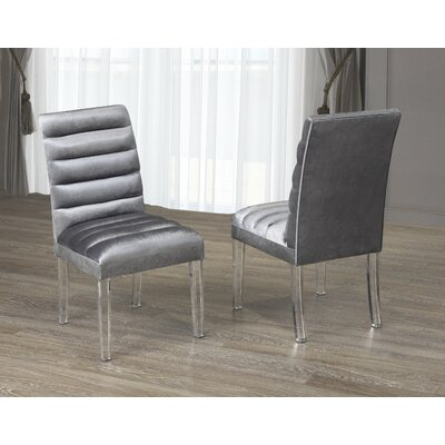Kopp Upholstered Dining Chair Upholstery Color: Gray