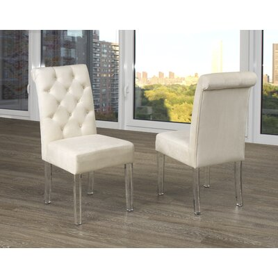 Neville Upholstered Dining Chair Upholstery Color: Beige