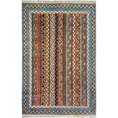 One-of-a-Kind OConnor Hand-Knotted Wool Blue/Ivory Area Rug
