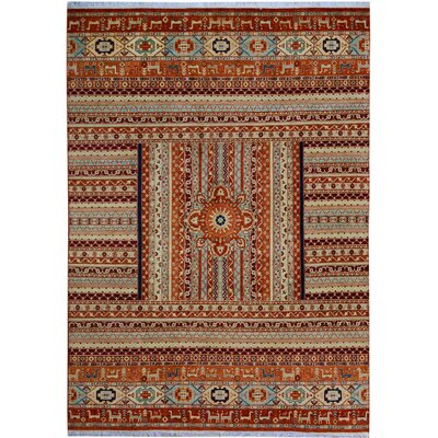 One-of-a-Kind Nutt Hand-Knotted Wool Red/Beige Area Rug