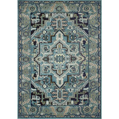 Feldmann Persian Inspired Turquoise Area Rug Rug Size: Rectangle 8 x 10