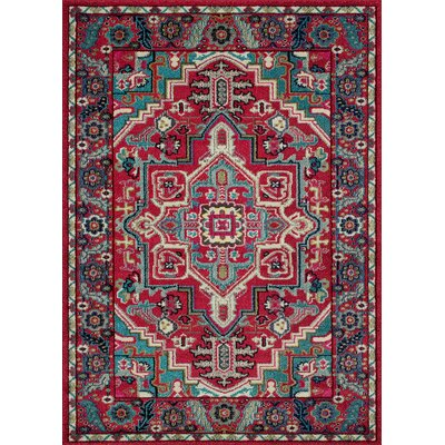 Feldmann Persian Inspired Cherry Area Rug Rug Size: Rectangle 5 x 7