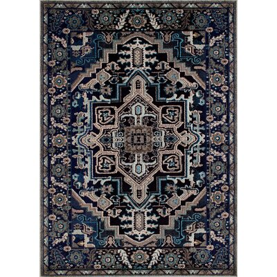Feldmann Persian Inspired Storm Blue/Beige Area Rug Rug Size: Rectangle 8 x 10