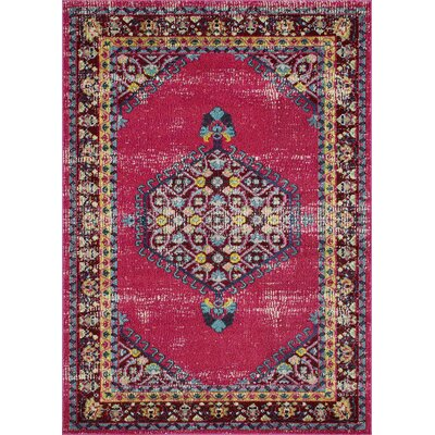 Feldmann Persian Inspired Pink Area Rug Rug Size: Rectangle 5 x 7
