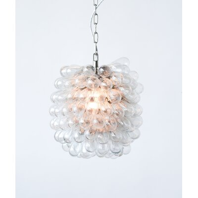 Gilkey High Glass and Metal 1-Light Geometric Pendant