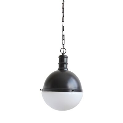 Crump Metal and Glass 1-Light Globe Pendant