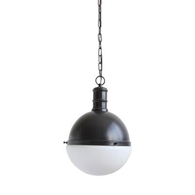 Crump Metal and Glass 1-Light Globe Pendant