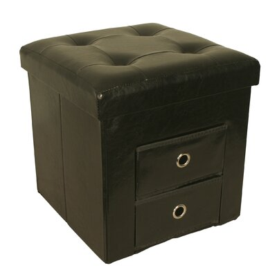 Whittenburg Collapsible Storage Cube Ottoman Finish: Black