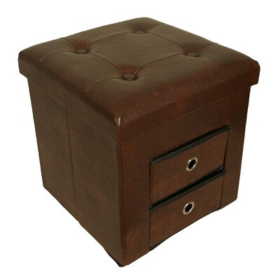 Whittenburg Collapsible Storage Ottoman Finish: Brown