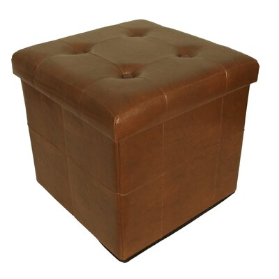Whitten Collapsible Seat with Storage Cube Finish: Brown