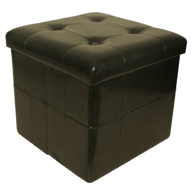 Whitten Collapsible Seat with Storage Cube Finish: Black