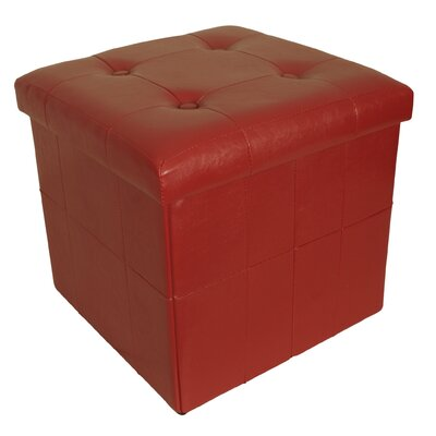 Whitten Collapsible Seat Storage Ottoman Finish: Red
