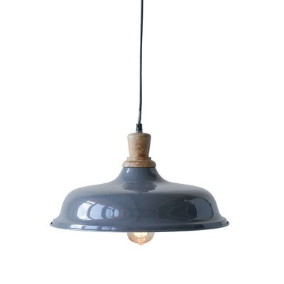Christiano High Metal and Wood 1-Light Inverted Pendant
