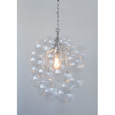 Gilkes High Glass Bubble 1-Light Geometric Pendant
