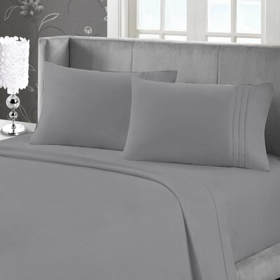 Eisenhart Soft Touch Embroidered Sheet Set Size: Full, Color: Ivory