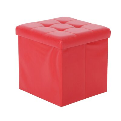 Nebel Foldable Square Storage Ottoman Finish: Red