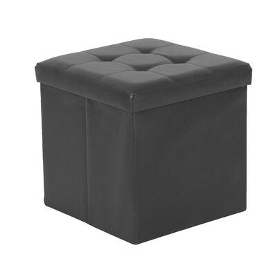 Nebel Foldable Square Storage Ottoman Finish: Charcoal