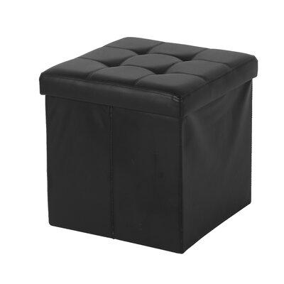 Nebel Foldable Square Storage Ottoman Finish: Black