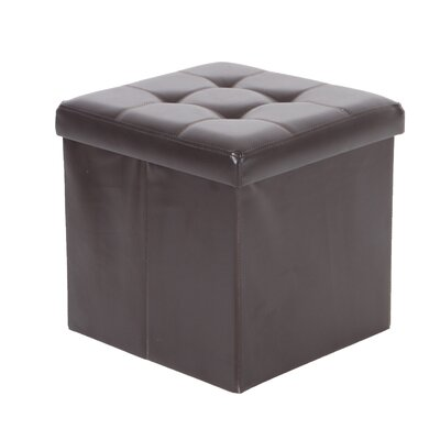 Nebel Foldable Square Storage Ottoman Finish: Espresso