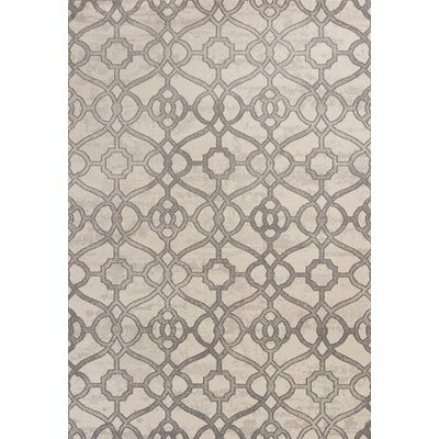 Dinh Ivory Area Rug Rug Size: Rectangle 53 x 77
