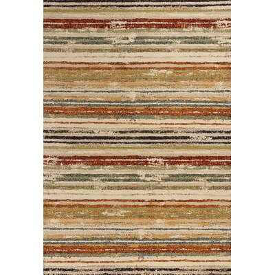 Wight Beige Area Rug Rug Size: Rectangle 27 x 411