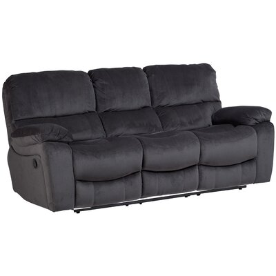 Belue Reclining Sofa Upholstery: Steel Gray