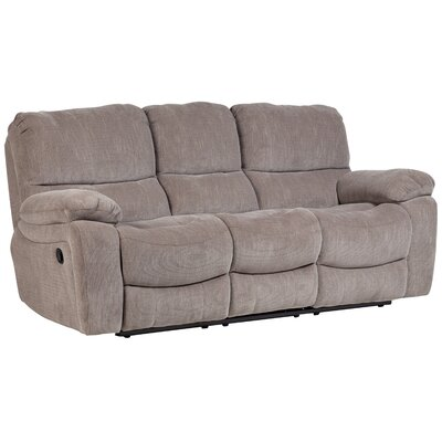 Belue Reclining Sofa Upholstery: Gray