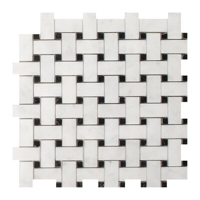 Imperial Carrara 1 x 2 Marble Mosaic Tile in White