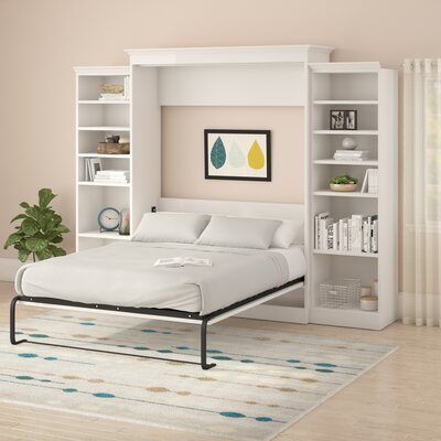 Acevedo Queen Murphy Bed Color: White