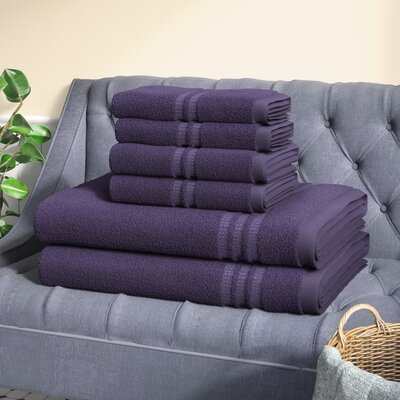Timmons 6 Piece Towel Set Color: Purple