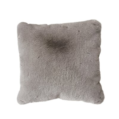 Kroger Faux Fur Throw Pillow Color: Mocha Brown