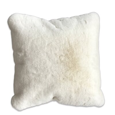Kroger Faux Fur Throw Pillow Color: Off-White