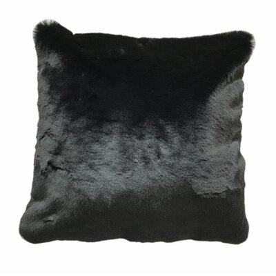 Kroger Faux Fur Throw Pillow Color: Black