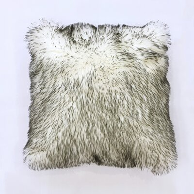 Leighty Throw Pillow Color: White/Gray