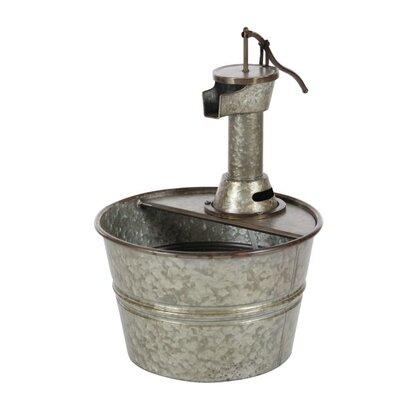 Image of Metal Farmhouse Iron Water Pump Bucket Fountain