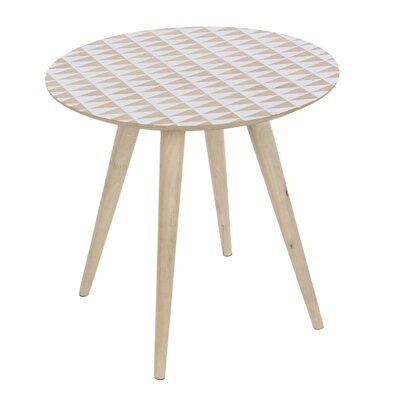 Randy Triangle Patterned End Table