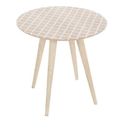 Los Gatos Lattice Patterned End Table
