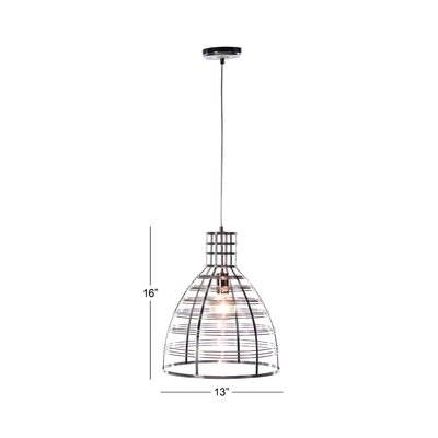 Moiseiev 1-Light Bowl Pendant Finish: Metalic, Size: 16 H x 13 W x 13 D