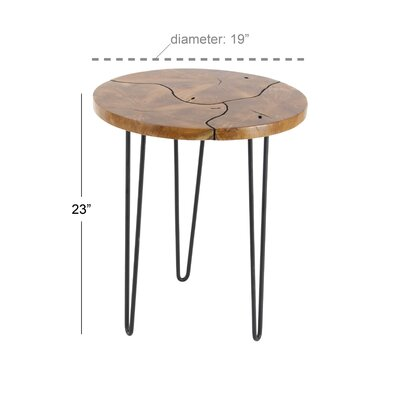 Opperman End Table Color: Black