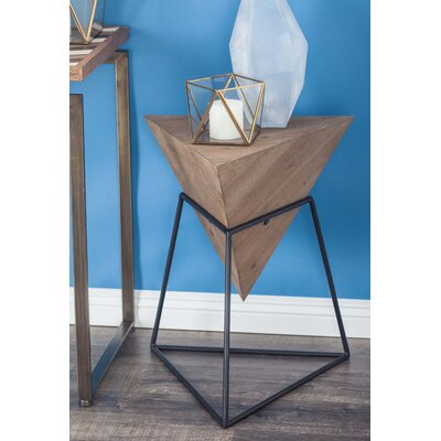 Mcniel Metal Triangle End Table Color: Brown