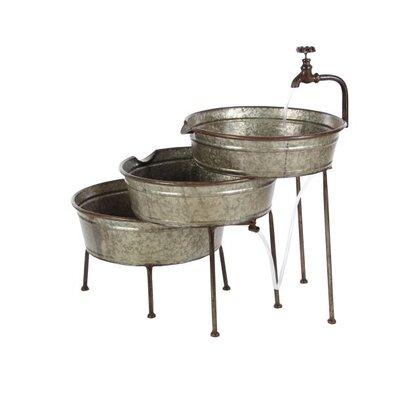 Image of Metal Farmhouse 3 Tiered Tub Fountain