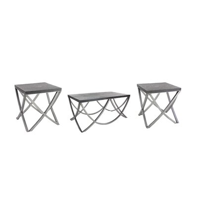 Middletown Contemporary 3 Piece Coffee Table Set