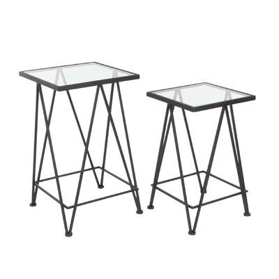 Metal End Table Table Base Color: Black